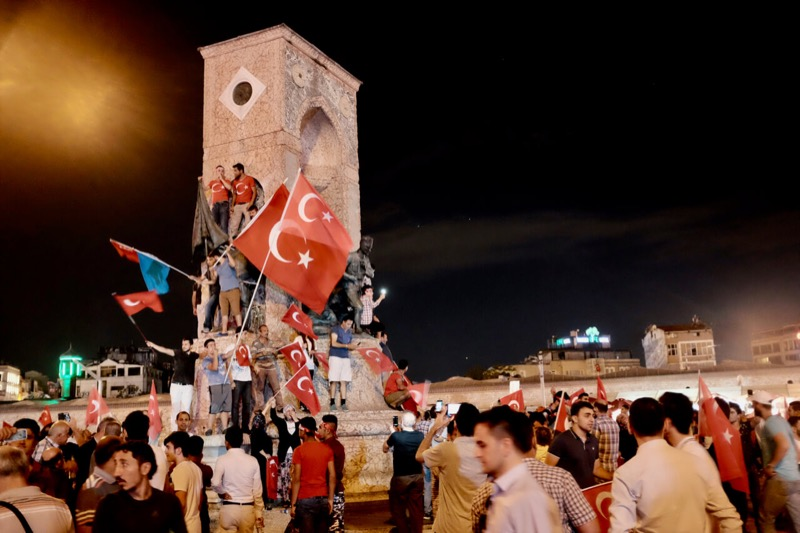 Taksim Place after the coup, Istanbul, Turkey